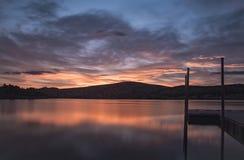 Pier Sunrise Image libre de droits