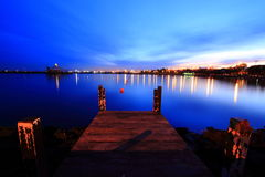 Pier Sunrise Indonesia Royalty Free Stock Photography