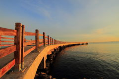 Pier Sunrise Indonesia. Pier sunrise at Ancol, Jakarta, Indonesia Royalty Free Stock Photos