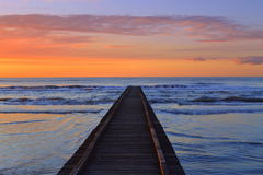 Pier at sunrise Royalty Free Stock Photo