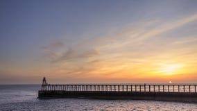 Pier at Sunrise Stock Photos