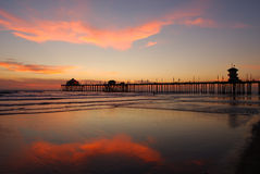 Pier at Sunset. Huntington Beach Pier at Sunset Royalty Free Stock Photography