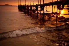 Pier Sunset Royalty Free Stock Image