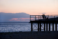 Pier at Sunset Stock Images