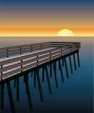 Pier Sunset Fotografie Stock