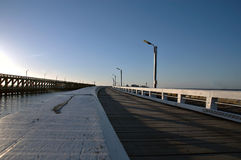 Pier at sunset. An empty pier at sunset Royalty Free Stock Photo
