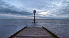Pier after sunset Royalty Free Stock Images