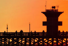 Pier at Sunset. Seal Beach Pier at sunset Royalty Free Stock Photography