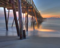 Pier at sunset Royalty Free Stock Image