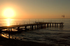Pier during sunset Royalty Free Stock Photos