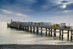 Pier at Sunset Stock Image