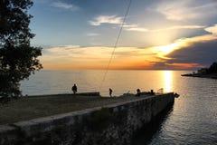 Pier Sunset Croatia photo stock