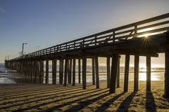 Pier in the sunset Royalty Free Stock Photography