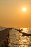Pier during sunset Royalty Free Stock Photo