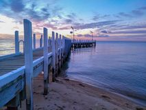 Pier sunset / jetty sunset royalty free stock photos