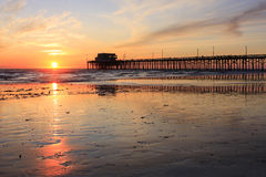 Pier sunset royalty free stock image