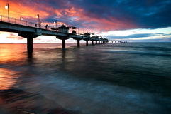 Pier in Sunset Stock Photography