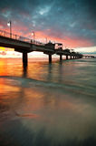 Pier in Sunset Royalty Free Stock Images