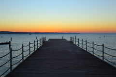Pier in the sunset Royalty Free Stock Images