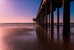 Pier At Sunset Royalty Free Stock Photo