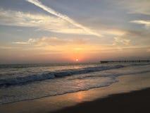 Pier Sunset Venice Beach stockfoto