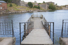 Pier on Suomenlinna Island, Helsinki Stock Images