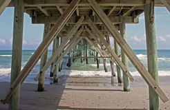 Pier Supports Royalty Free Stock Photos