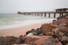 Pier at swakopmund in namibia Royalty Free Stock Photography