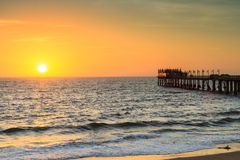 Pier of Swakopmund at sunset Royalty Free Stock Photography