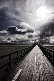 Pier on swedish coast Royalty Free Stock Photo