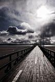 Pier on swedish coast Royalty Free Stock Photo