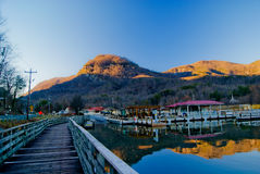 On Pier. Taken at Lake Lure when the repairs were done Stock Photos