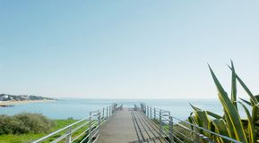 Pier Terrace dans Albufiera 1 image stock