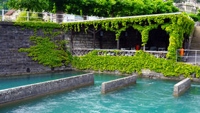 Pier of Thun Lake Royalty Free Stock Photography