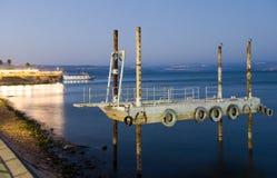 Pier in Tiberias Stock Photography