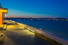 Pier in Tihany by Lake Balaton Stock Image