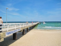 Pier in Timmendorfer Strand, baltic sea, germany Royalty Free Stock Photos