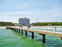 Pier in Timmendorfer Strand, baltic sea, germany Royalty Free Stock Image
