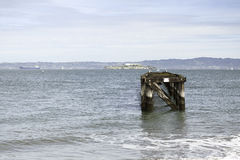 Pier to Alcatraz Island in San Francisco Royalty Free Stock Photography