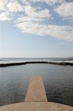 Pier to infinity, Royalty Free Stock Photography