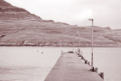 Pier to Isle of Raasay, Scotland Stock Images