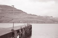 Pier to Isle of Raasay, Scotland Royalty Free Stock Images