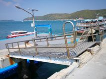 Pier to Koh Larn In Pattaya, Thailand royalty free stock photography