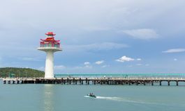 Pier to Koh Si Chang Royalty Free Stock Images