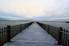 Pier to Ocean Royalty Free Stock Images