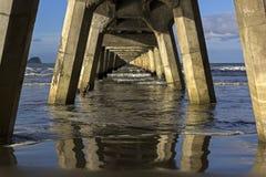 Pier in Tolaga Bay in New Zealand. Historic pier in Tolaga Bay in New Zealand Stock Photography