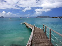 Pier at Tortola island Stock Image