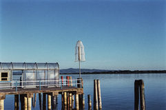 Pier at Trasimeno lake Royalty Free Stock Images