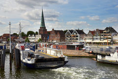 Pier in Travemunde, Germany Stock Photography