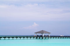 Pier in tropical sea Royalty Free Stock Photos